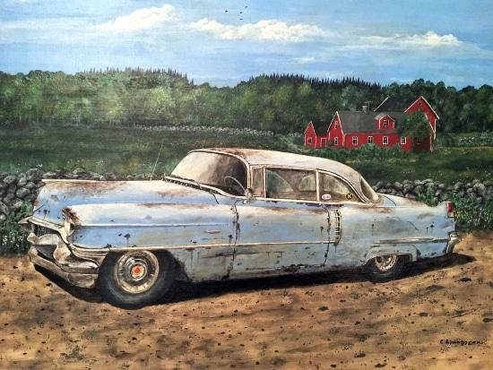 Cadillac 54 på Hallandsåsen. Claes Ljunggren